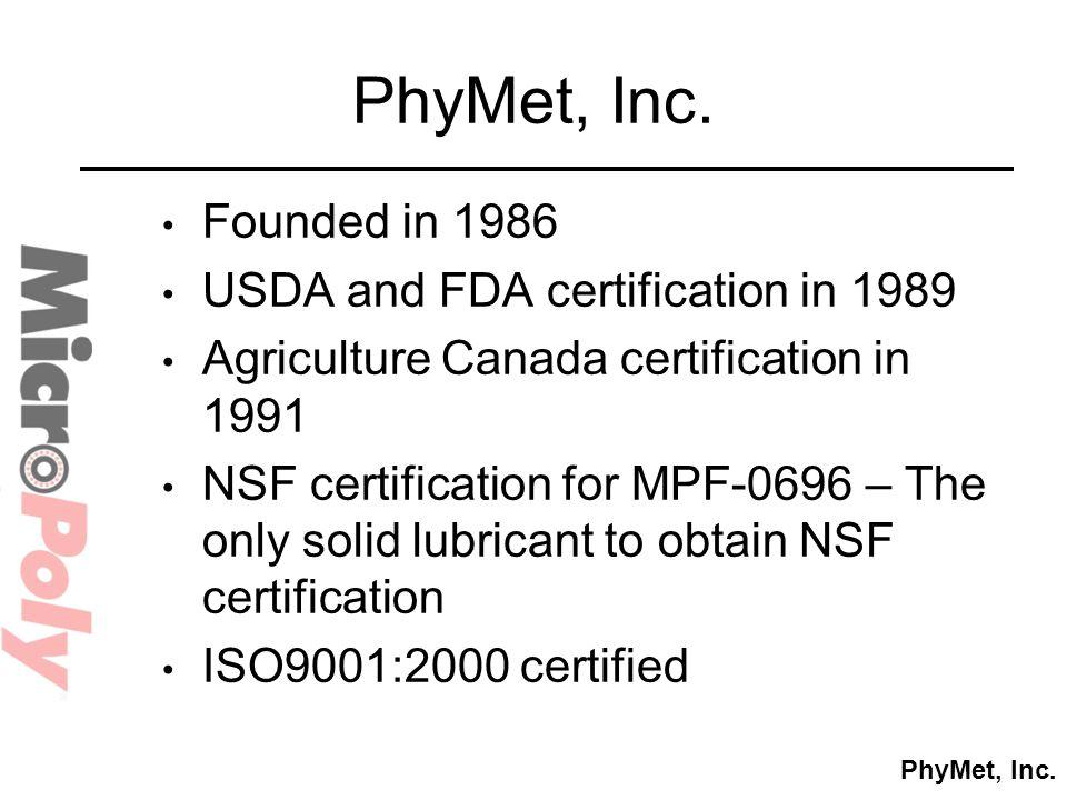 PhyMet, Inc.