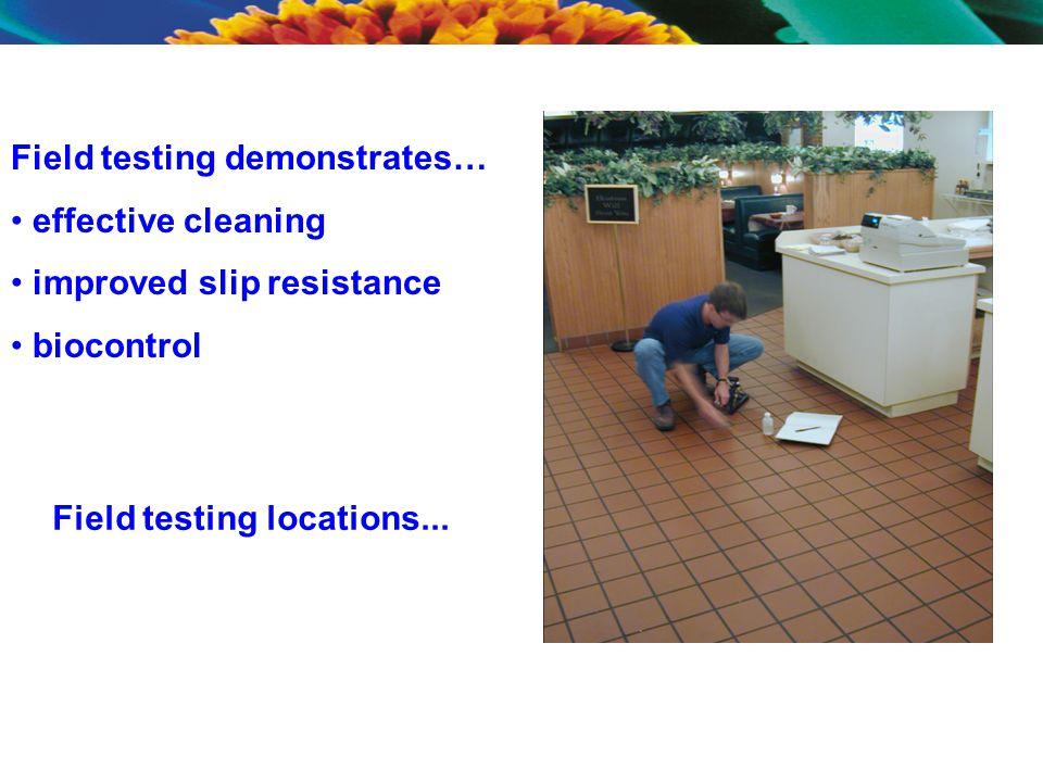 Field testing locations...
