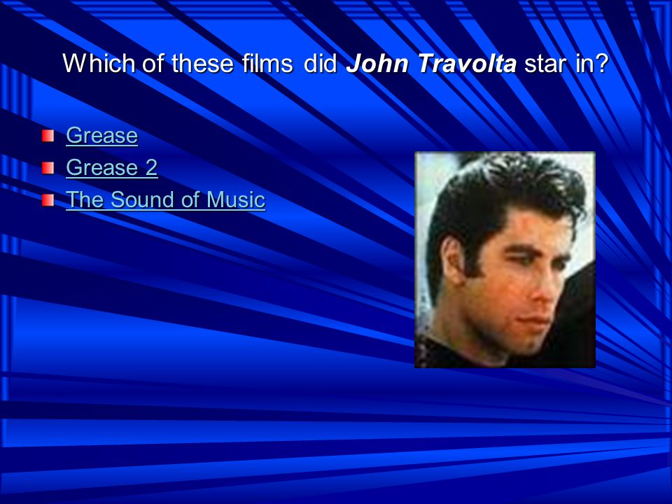 Which of these films did John Travolta star in.