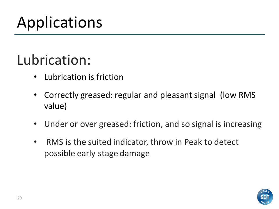 28 What's the problem? Over lubrication is – A huge killer of bearings – Consumes far too much grease – Consumes far too much time – Reduces reliabili