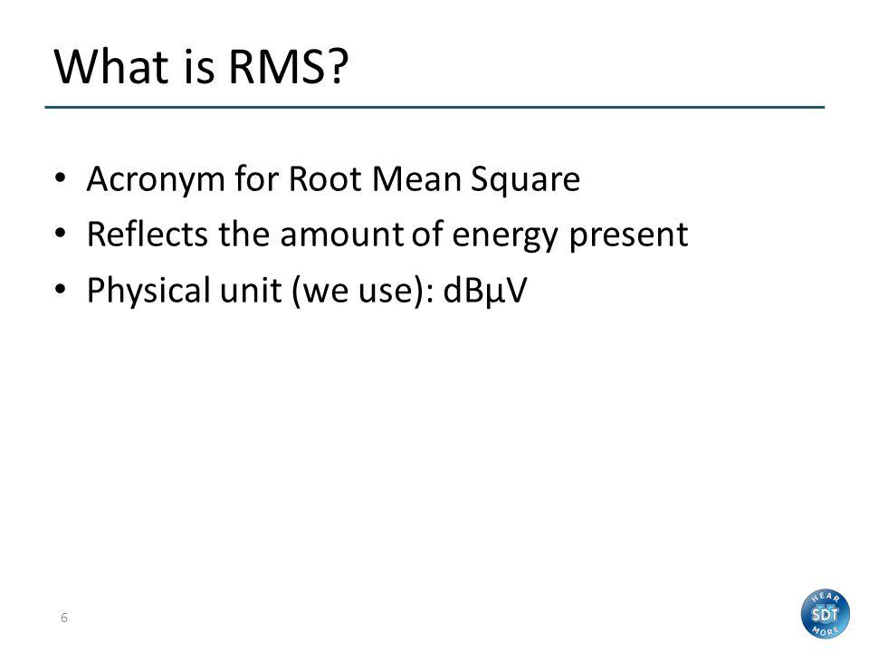 5 Static Condition Indicators RMS Max RMS Peak Crest Factor