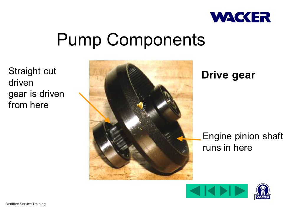 Certified Service Training Pump Components Wacker & Honda Engines