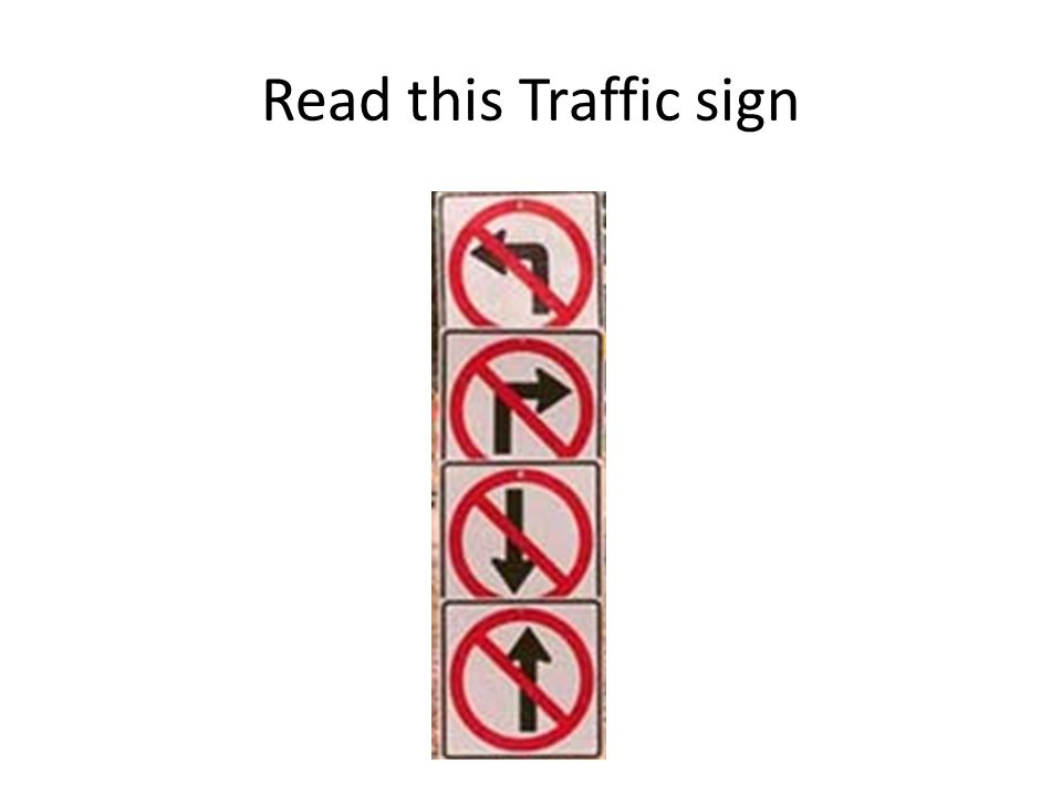 Read this Traffic sign