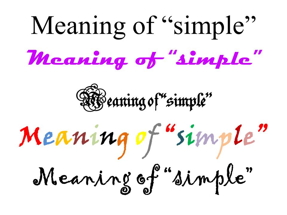 Meaning of simple
