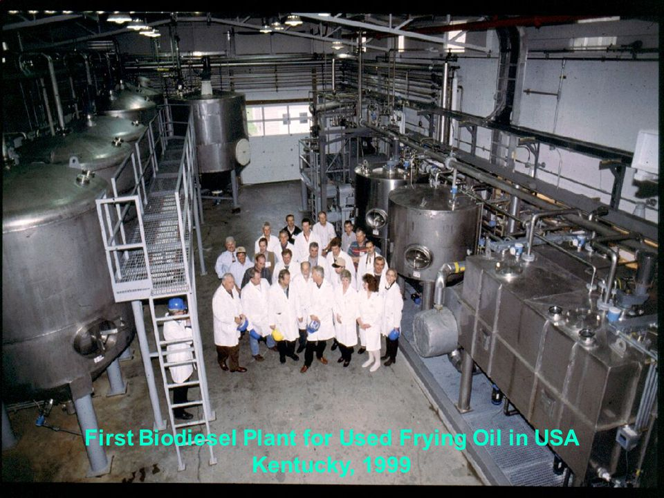 First Biodiesel Plant for Used Frying Oil in USA Kentucky, 1999
