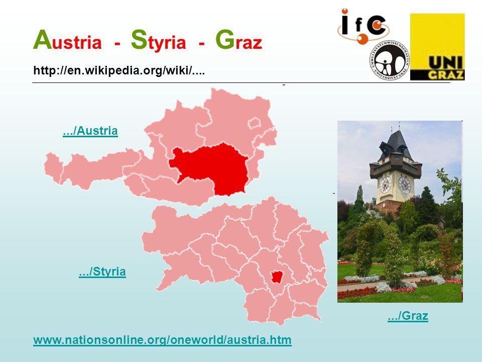 A ustria - S tyria - G raz.../Graz.../Styria http://en.wikipedia.org/wiki/......./Austria www.nationsonline.org/oneworld/austria.htm