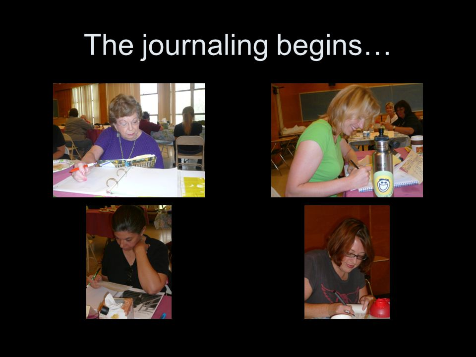The journaling begins…