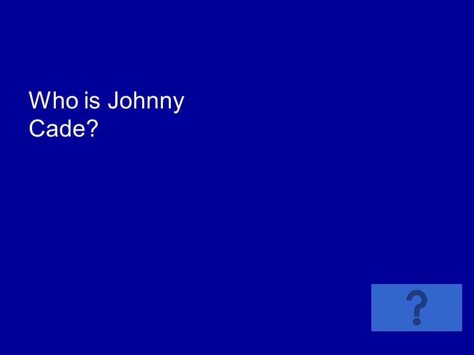 Who is Johnny Cade?