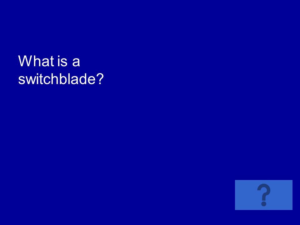What is a switchblade?