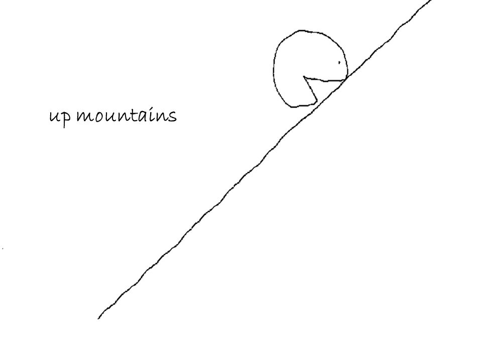 up mountains