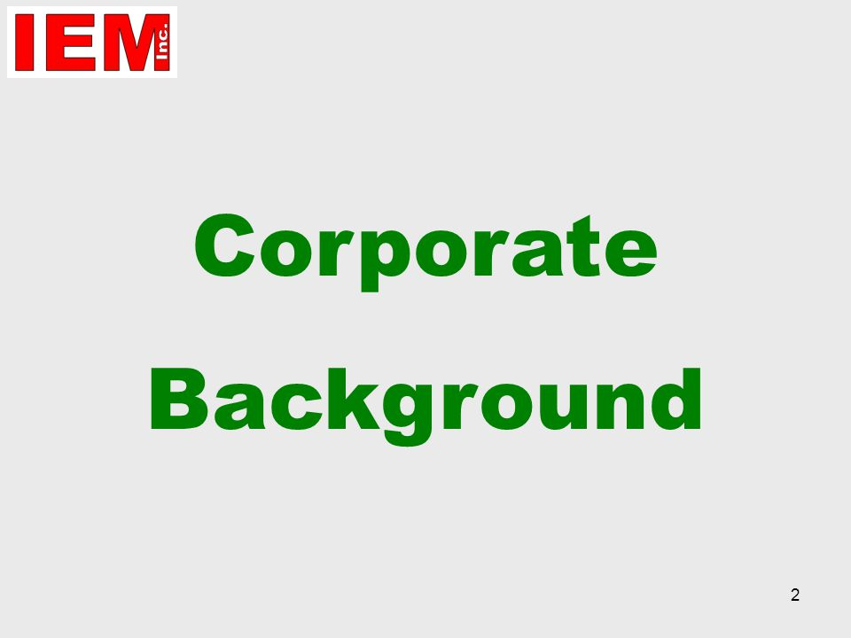 2 Corporate Background