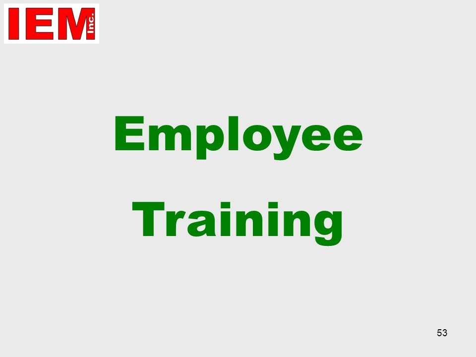 53 Employee Training