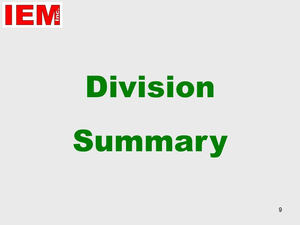 9 Division Summary