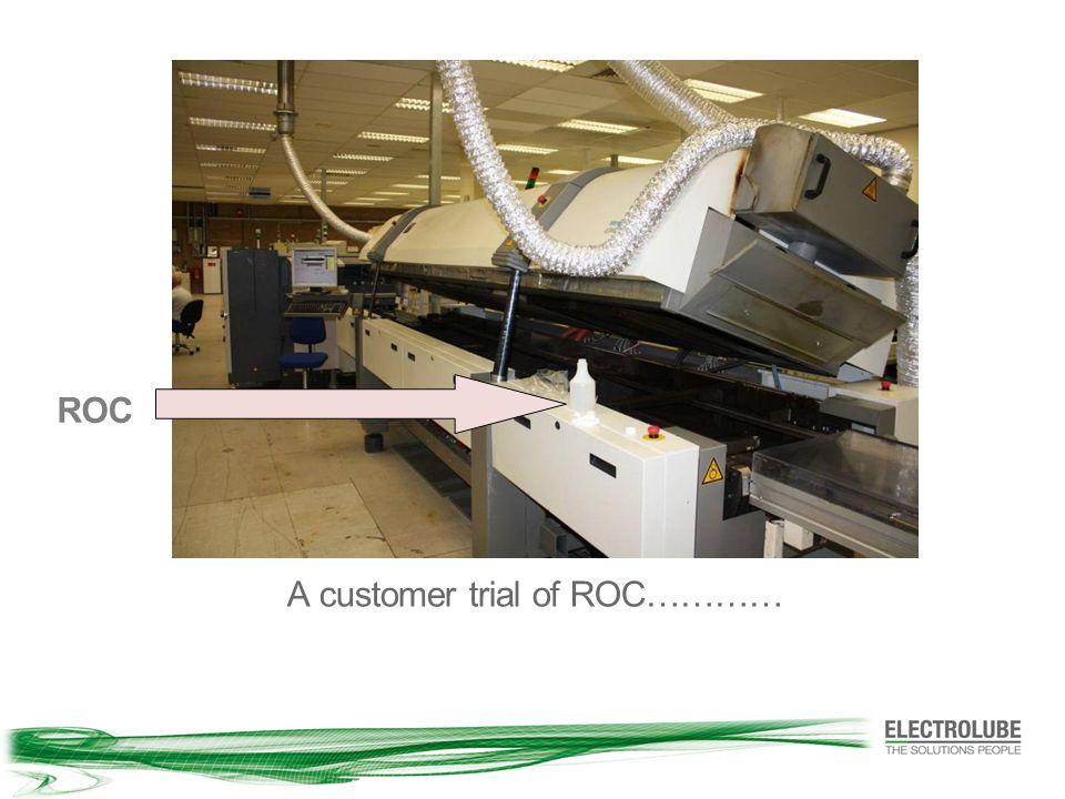 A customer trial of ROC………… ROC