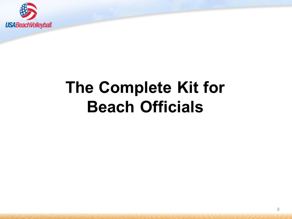 8 The Complete Kit for Beach Officials