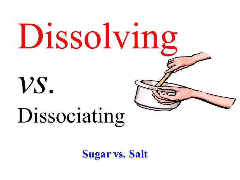 Dissolving vs. Dissociating Sugar vs. Salt