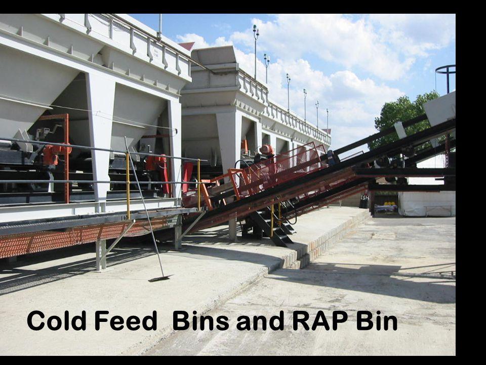 Cold Feed Bins and RAP Bin