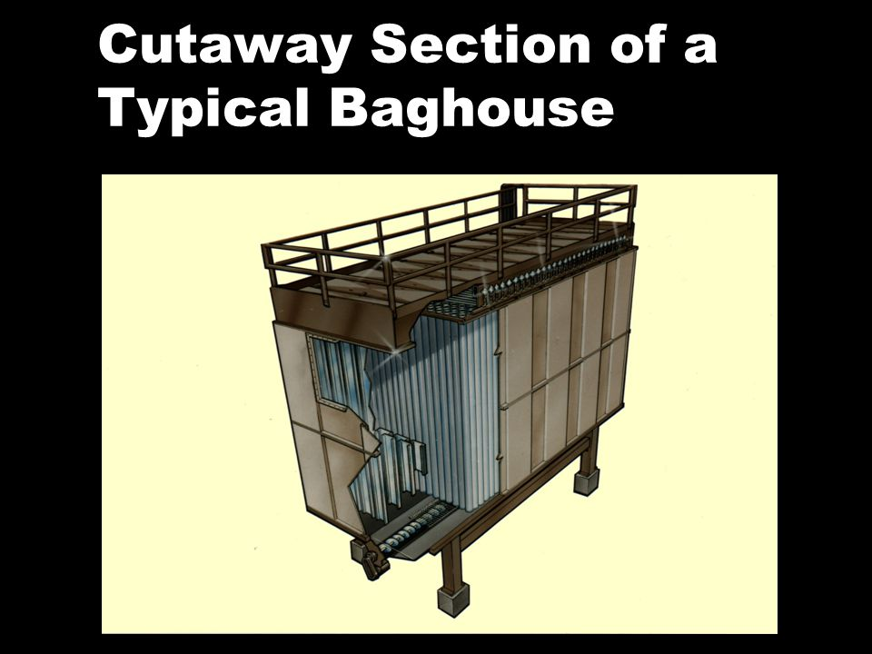 Cutaway Section of a Typical Baghouse