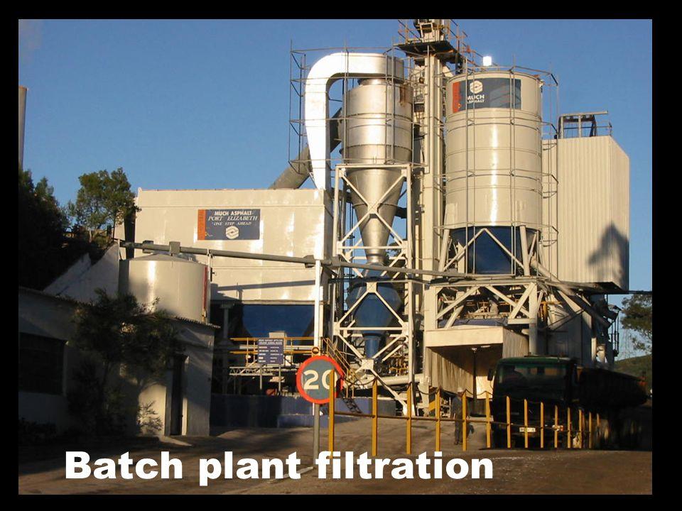 Batch plant filtration