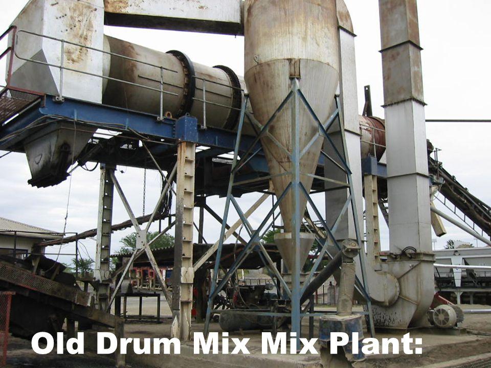 Old Drum Mix Mix Plant: