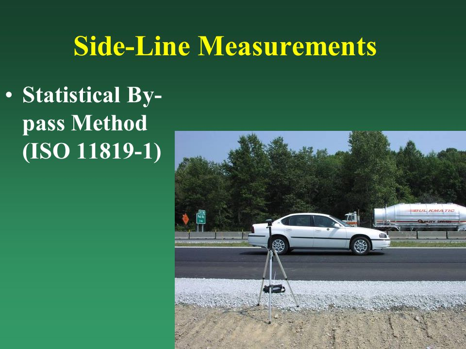 FHWA - Noise Abatement Criteria 67 dB(A) this is not an absolute value or design standard, only a level where noise mitigation must be considered For new construction or reconstruction (ISO 11819-1)
