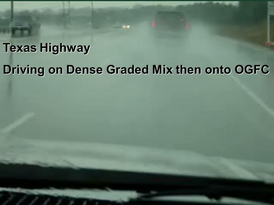 I-74 in Ohio Driving on Dense HMA onto OGFC then back onto Dense HMA