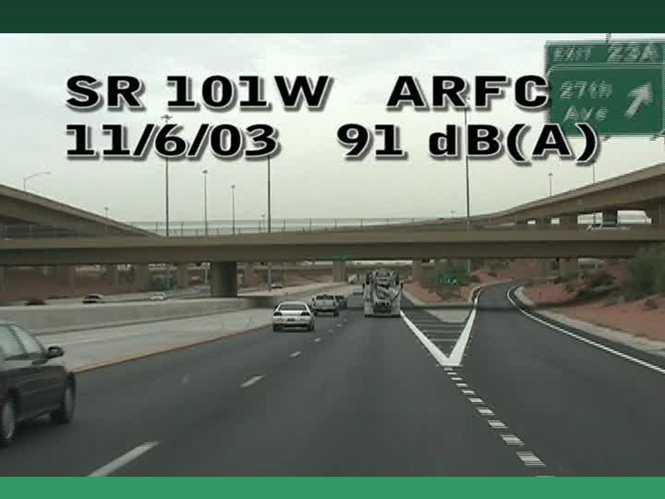 Arizona DOT Uses ARFC to Provide Quiet Pavements ADOT is Spending $34M to Overlay PCCP in the Phoenix MetropolitanADOT is Spending $34M to Overlay PCCP in the Phoenix Metropolitan The ARFC is Minus 9.5mm & 9-9.5% BinderThe ARFC is Minus 9.5mm & 9-9.5% Binder 12.5 mm Thick When Used on Flexible Pavement12.5 mm Thick When Used on Flexible Pavement 25 mm Thick When Used on PCCP25 mm Thick When Used on PCCP ADOT Uses Pavement Type (ARFC) as a Noise Mitigation Strategy (4 dBA)ADOT Uses Pavement Type (ARFC) as a Noise Mitigation Strategy (4 dBA)