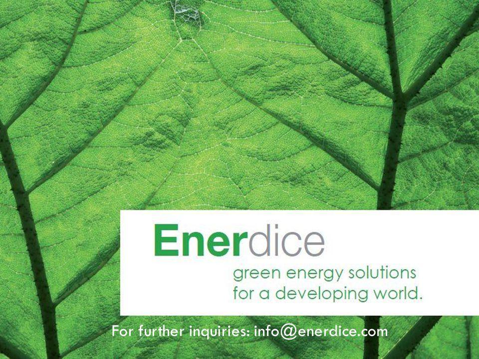 For further inquiries: info@enerdice.com