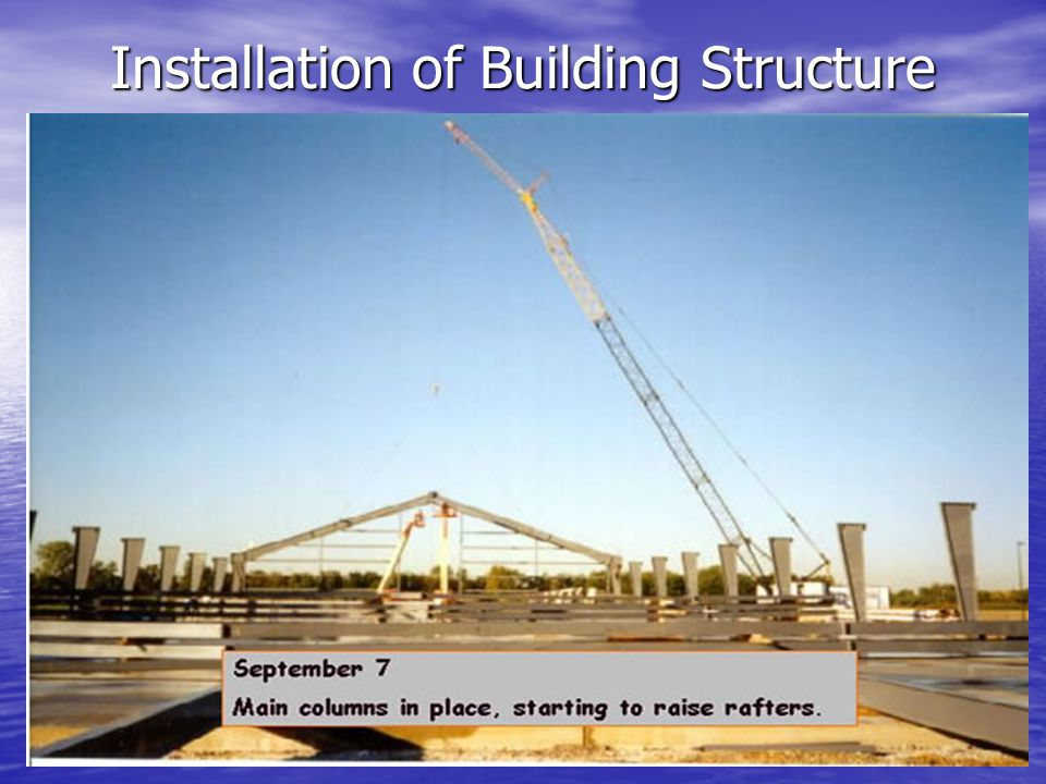 Installation of Building Structure