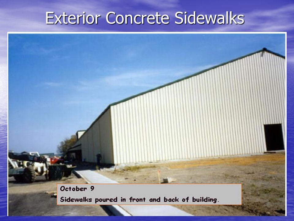 Exterior Concrete Sidewalks