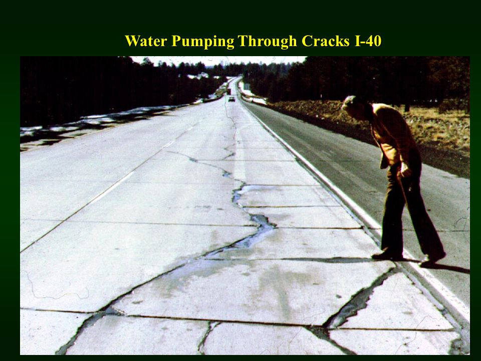 Water Pumping Through Cracks I-40