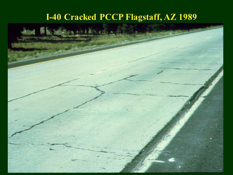 I-40 Cracked PCCP Flagstaff, AZ 1989
