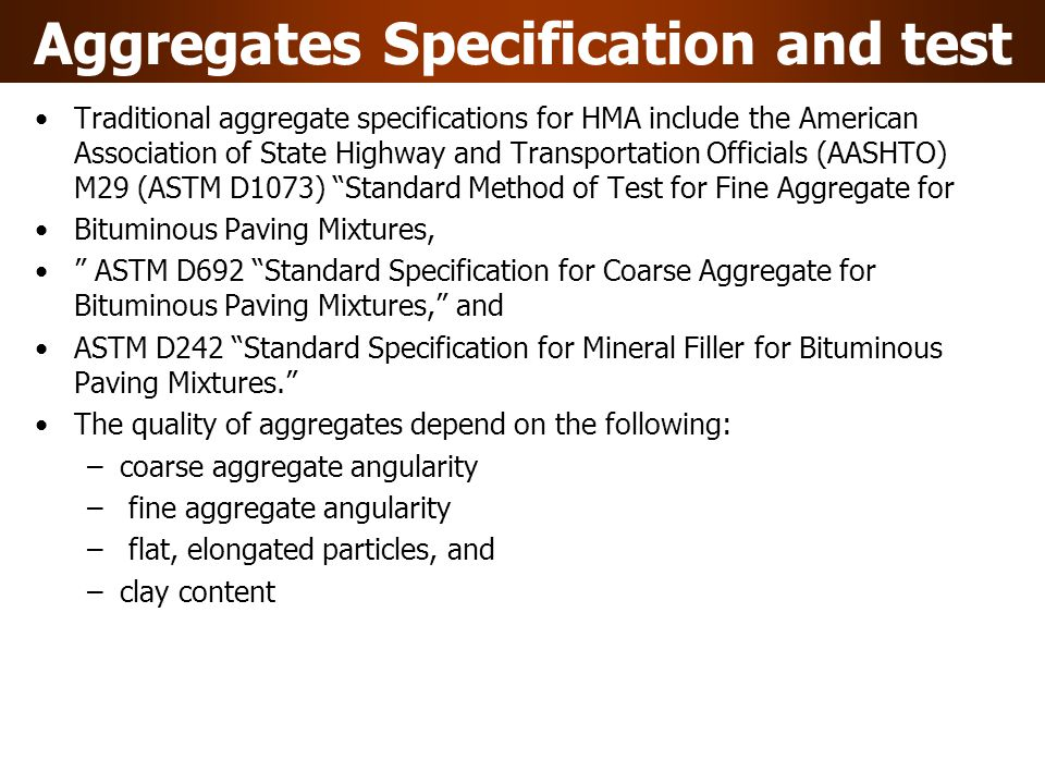 Asphalt Cement Specification and Tests Penetration Grading System ASTM D946 Standard Specification for Penetration-Graded Asphalt Cement for Use in Pavement Construction This specification includes five penetration grades ranging from a hard asphalt graded at 40-50 to a soft asphalt cement graded at 200-300. The sections below discuss the tests used to classify penetration grades Following tests conducted to classify the penetration grades: Penetration Test: AASHTO T49 (ASTM D5) Standard Method of Test for Penetration of Bituminous Mixtures In this procedure, a needle is typically loaded with a 100-g weight and allowed to penetrate into an asphalt cement sample for 5 sec.