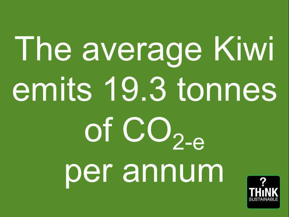 The average Kiwi emits 19.3 tonnes of CO 2-e per annum