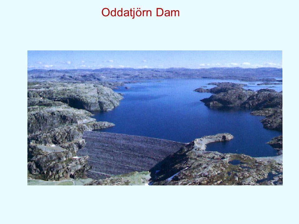 Storglomvatn Asphalt Core Dam, Norway(125m) plinth