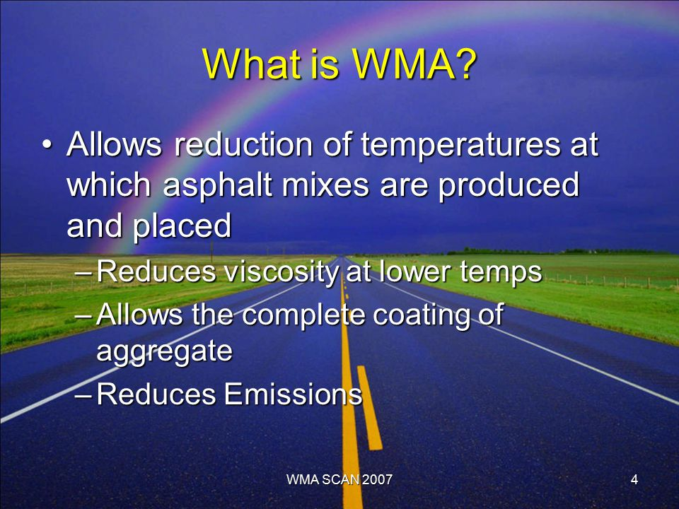 What is WMA.
