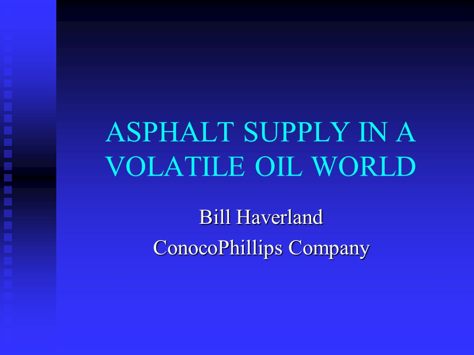 Issues to be Discussed Crude Oil Supply Crude Oil Supply Crude Oil Pricing Crude Oil Pricing Refining Capacity Refining Capacity Products Supply Products Supply Products Pricing Products Pricing Future of the Industry Future of the Industry
