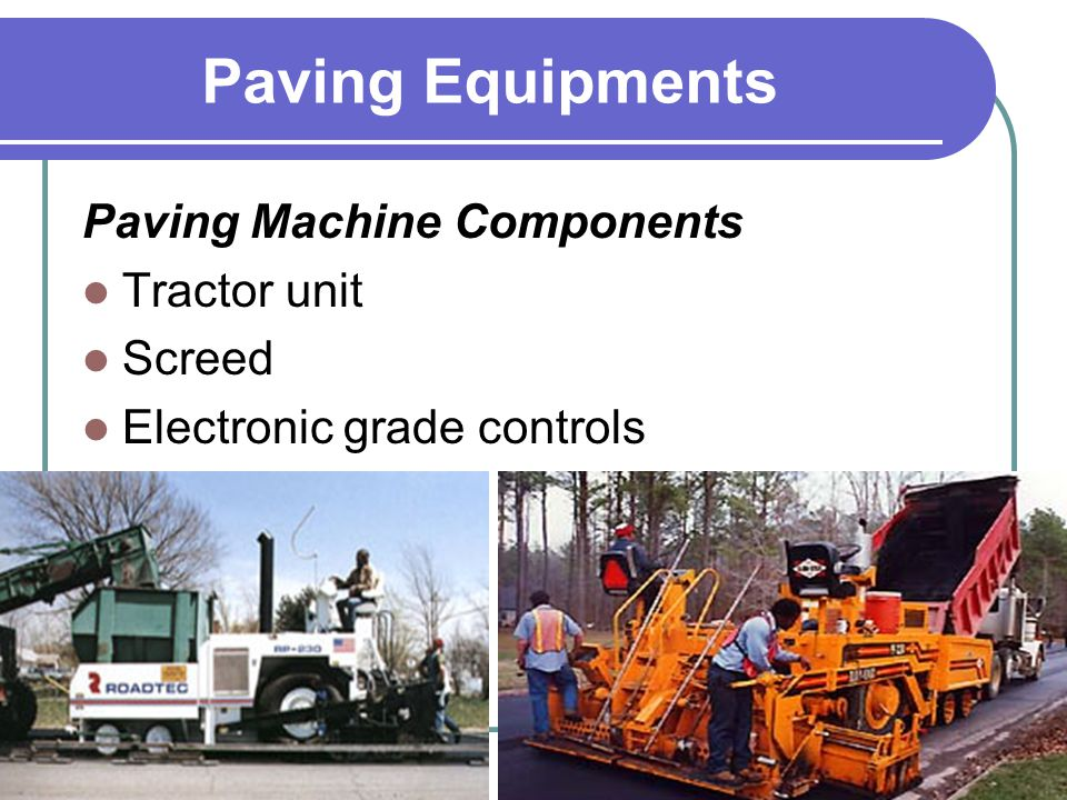 Paving Equipments Paving Machine Components Tractor unit Screed Electronic grade controls