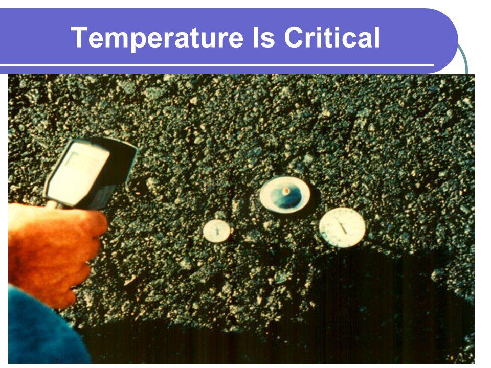 Temperature Is Critical