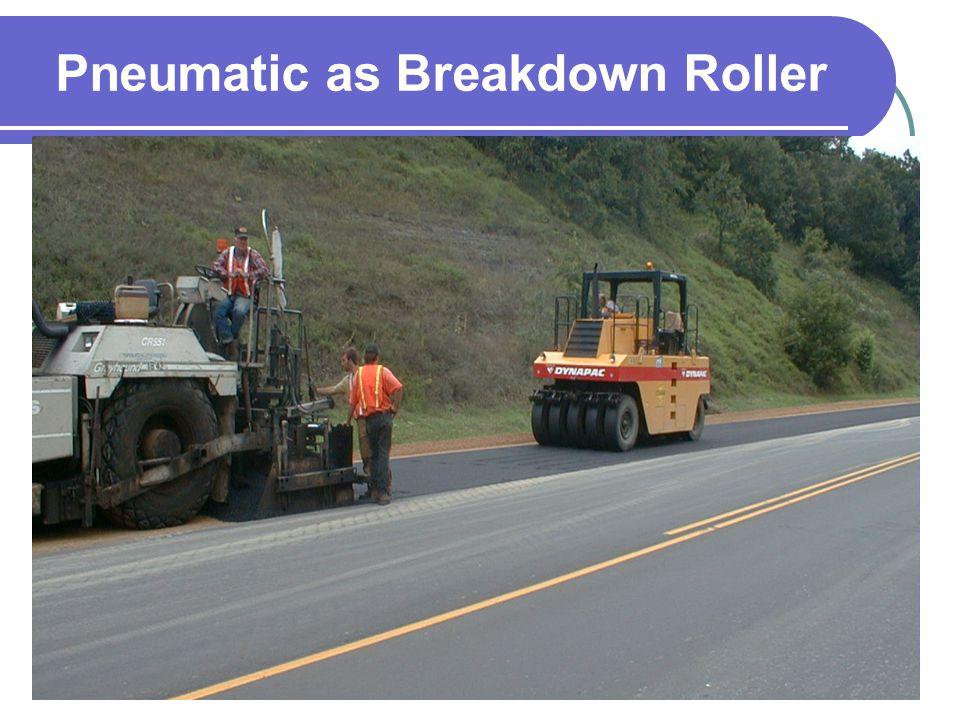 Pneumatic as Breakdown Roller