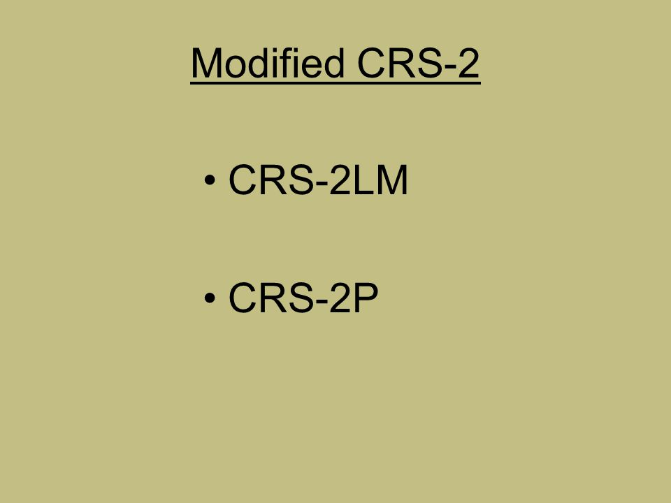 CRS-2 Chip Seals Cement Treated Base