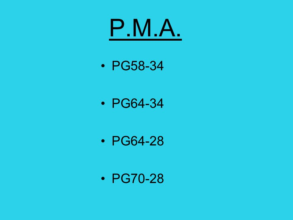 P.M.A. Polymer Modified Asphalt