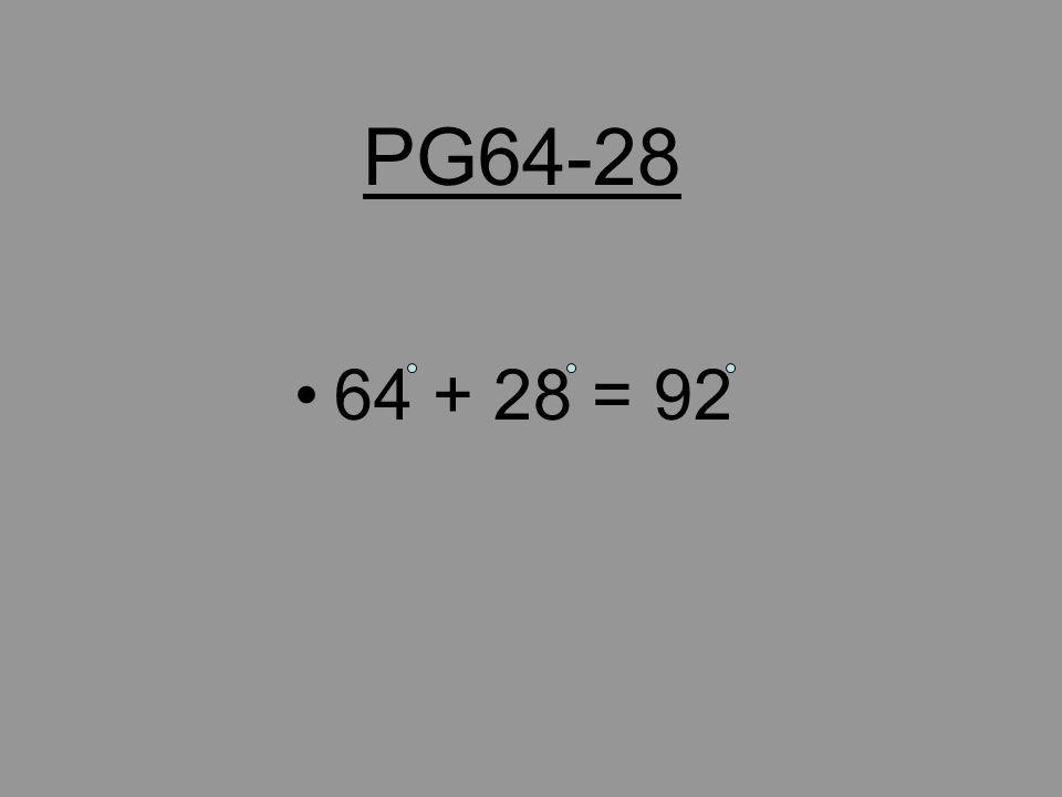 PG58-28 58 + 28 = 86