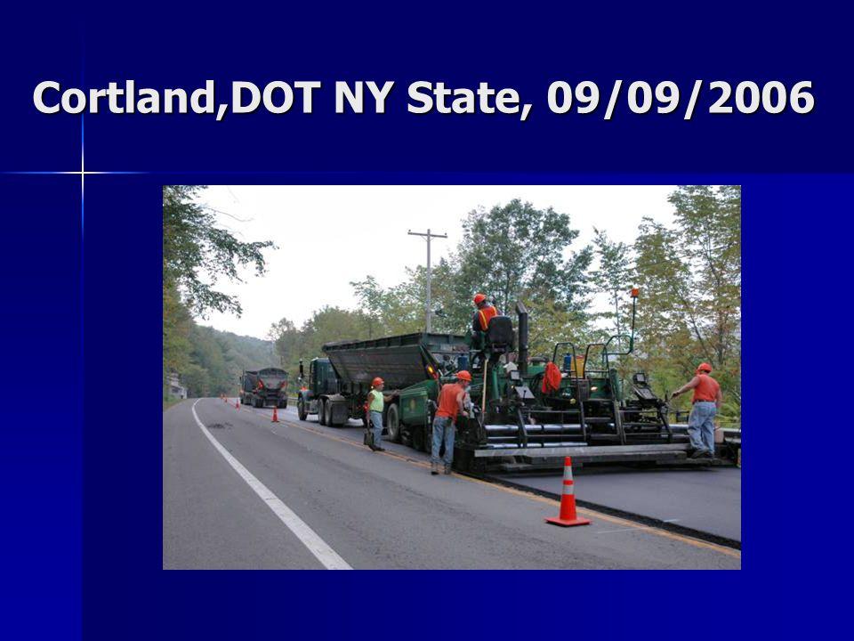 Cortland,DOT NY State, 09/09/2006
