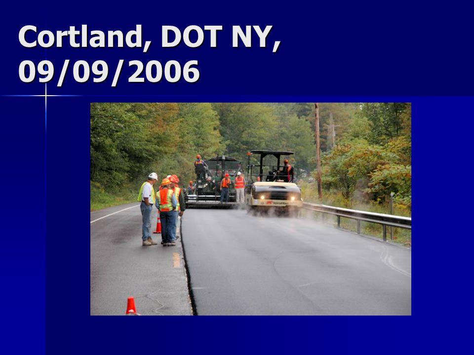 Cortland, DOT NY, 09/09/2006