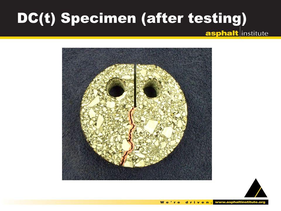DC(t) Specimen (after testing)