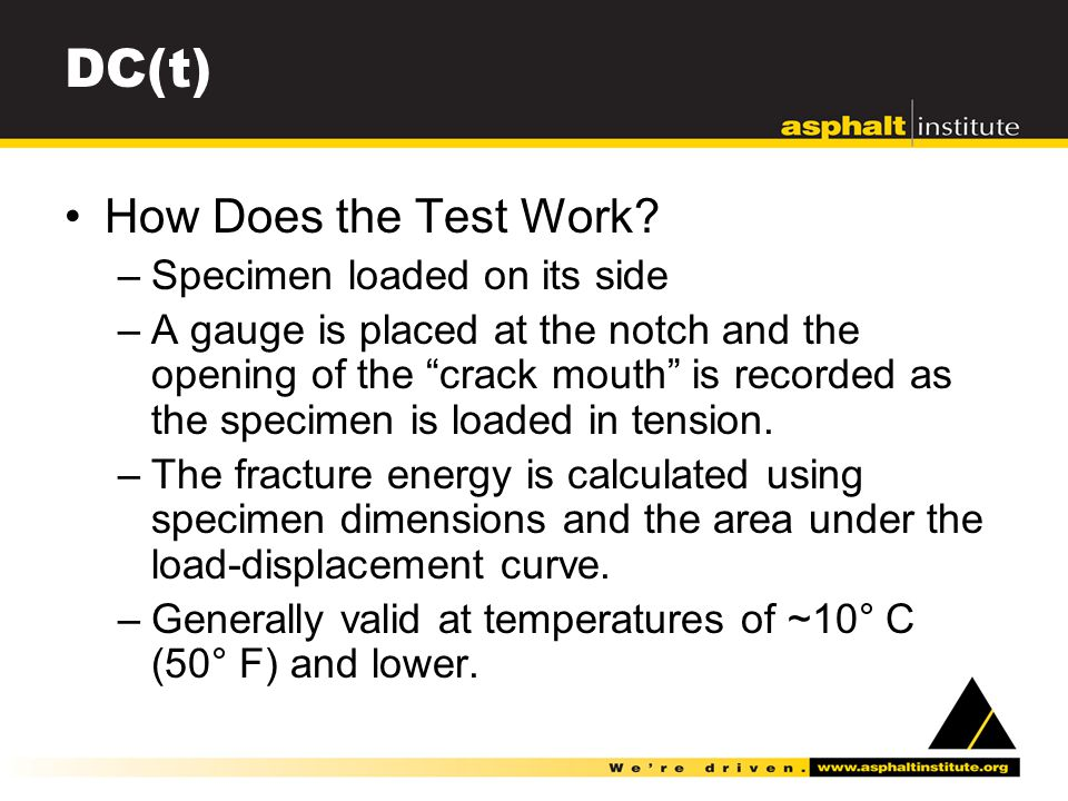 DC(t) How Does the Test Work.
