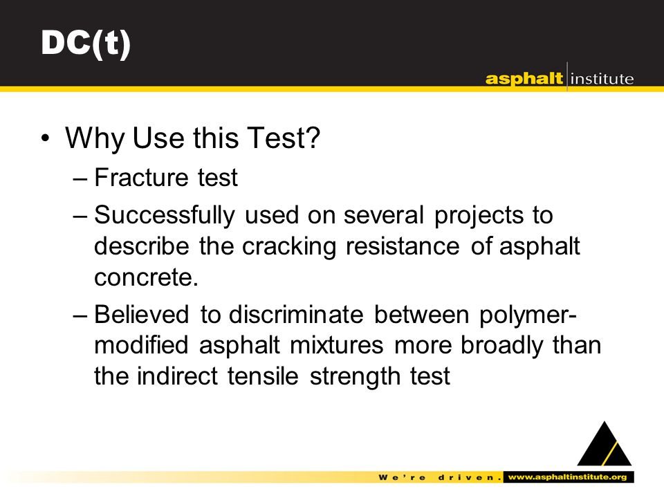 DC(t) Why Use this Test.