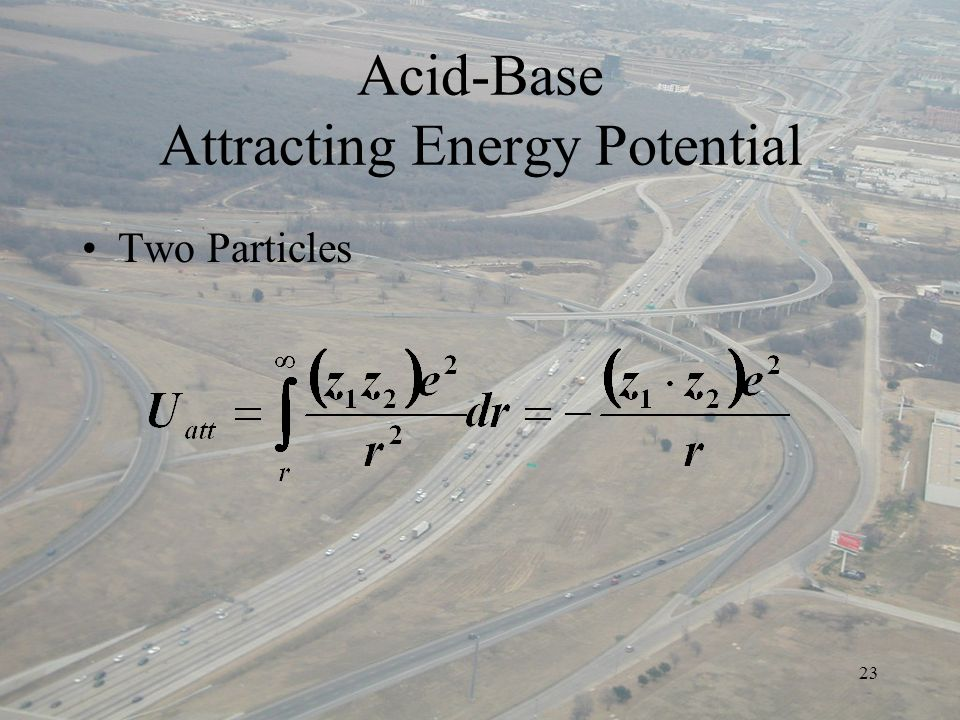 23 Acid-Base Attracting Energy Potential Two Particles