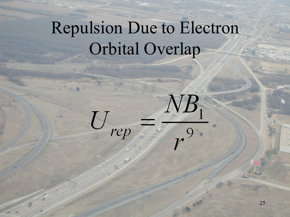25 Repulsion Due to Electron Orbital Overlap